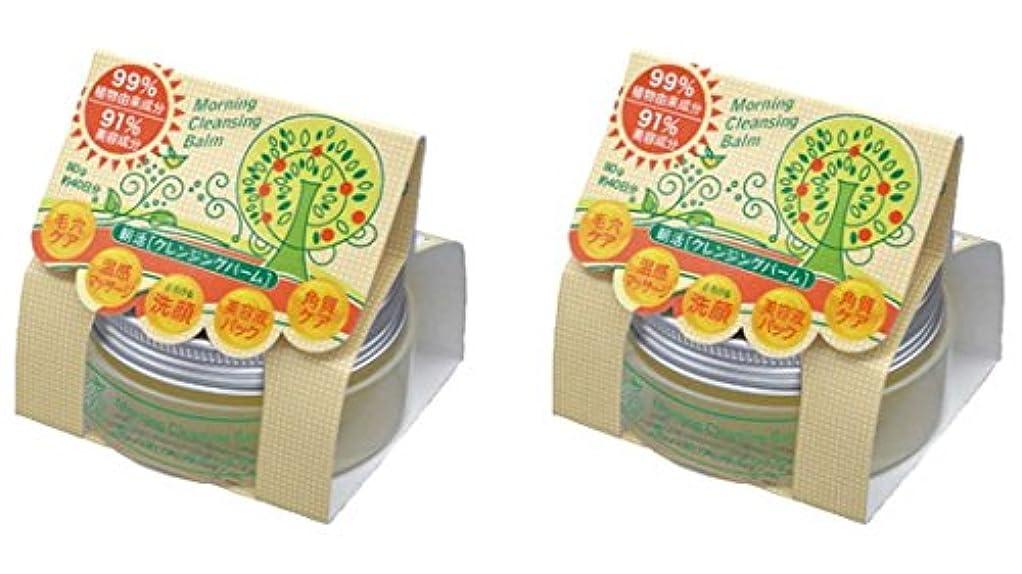 きらめくタッチ苦情文句朝活クレンジングバーム 2個セット(99%植物由来成分+91%美容成分配合クレンジングバーム)