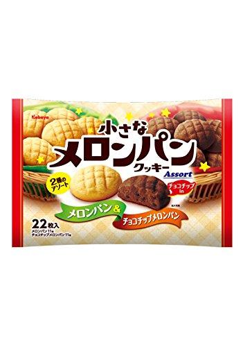 カバヤ 小さなメロンパンクッキー メロンパン&チョコチップメロンパン 22枚×6袋