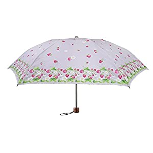 エーブローリー ストロベリープリンセス 折りたたみ傘 日傘/晴雨兼用 全4色 手開き ピンク 6本骨 55cm