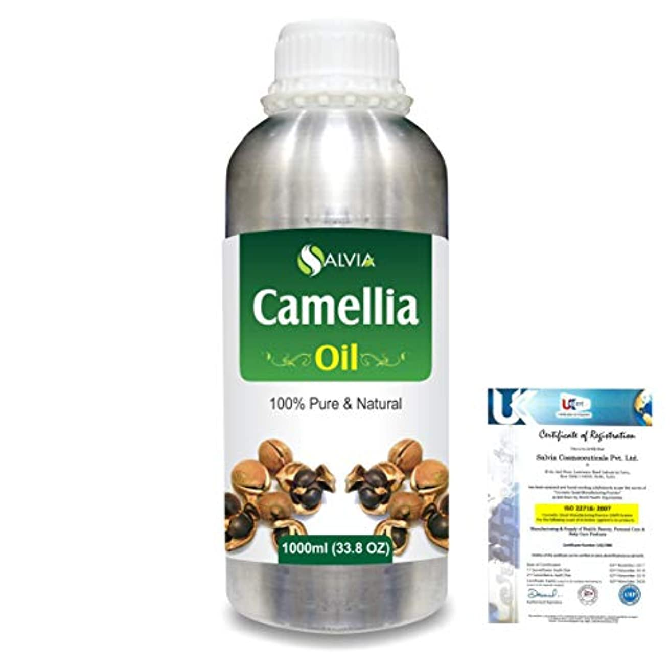 グレートオーク識別する汚いCamellia (Camellia Sasanqua) 100% Natural Pure Essential Oil 1000ml/33.8fl.oz.