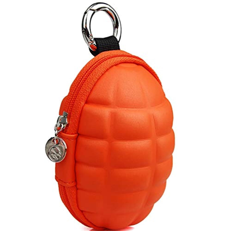パーソナライズされたコインパース、ファッションミニバッグ、軽量で簡単なキーバッグ、6 * 6 * 10CM (色 : オレンジ, サイズ : XS)