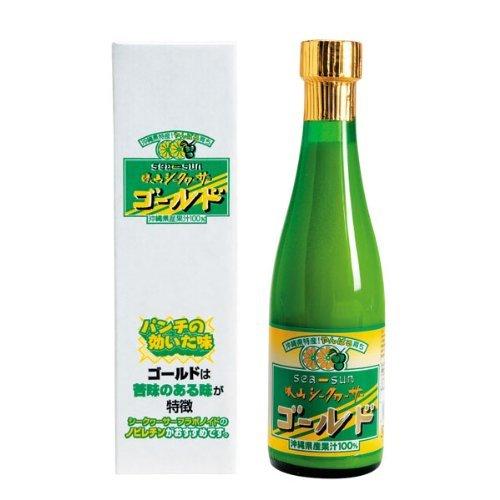 勝山シークヮーサー100%果汁 ゴールド 300ml