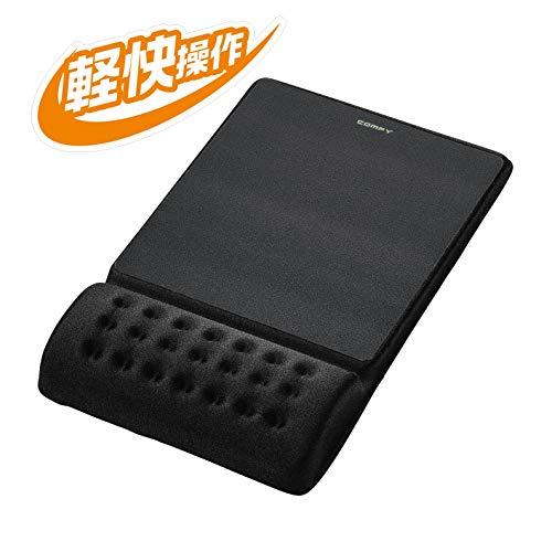 エレコム COMFY マウスパッド 軽快 ブラック MP-096BK 1個