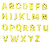 陶器の可愛い文字表札 「Puffy Sign パフィーサイン 」 アルファベット 【レモン】 【H】 【アンカー同梱】