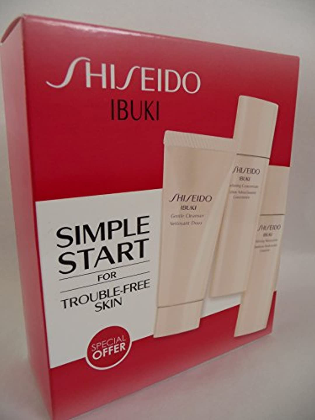 感情より平らな蓄積する資生堂 IBUKI Simple Start Set: Gentle Cleanser 30ml + Softening Concentrate 30ml + Refining Moisturiser 30ml 3pcs...