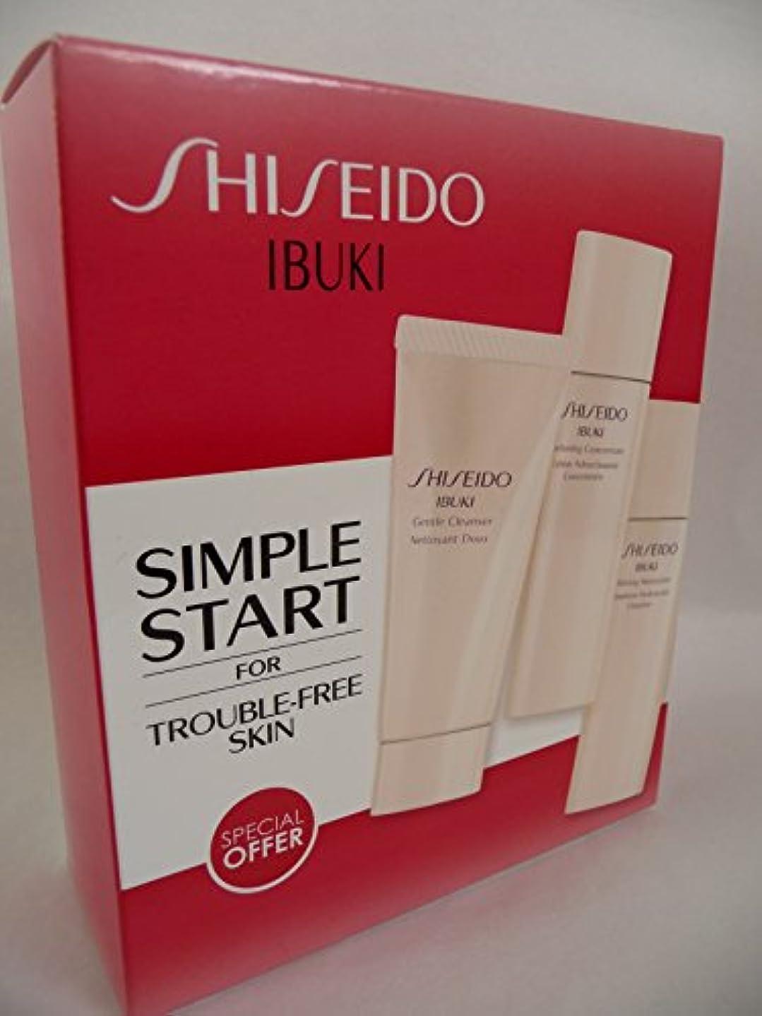 リンスもしシャープ資生堂 IBUKI Simple Start Set: Gentle Cleanser 30ml + Softening Concentrate 30ml + Refining Moisturiser 30ml 3pcs...