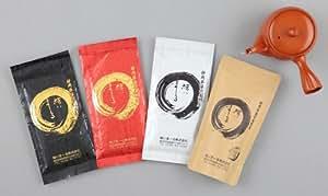 緑茶 高級 静岡茶 美味しい遠州森の 深蒸し茶 4種と急須のセット