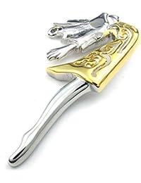 [テメゴ ジュエリー]TEMEGO Jewelry メンズステンレススチール製のヴィンテージ美少女ペンダントネックレス、ゴールデンシルバー[インポート]