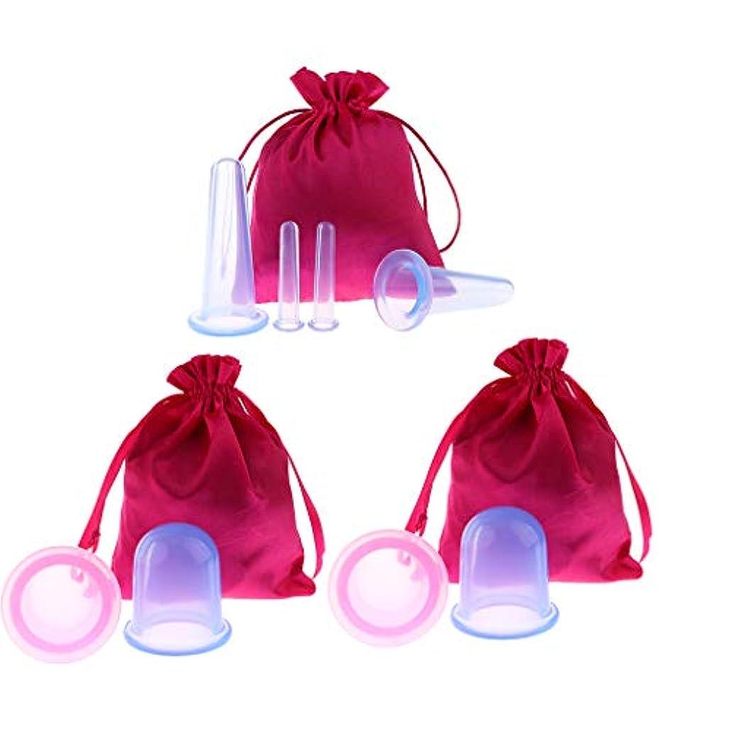 順応性のある敬意を表する自動カッピングボディカップ 8個 シリコーン マッサージ 収納バッグ付