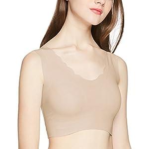 [グンゼ]ノンワイヤーブラジャー キレイラボ 完全無縫製® 綿混 ハーフトップ レディース KL2055 スキンベージュ 日本 M (日本サイズM相当)