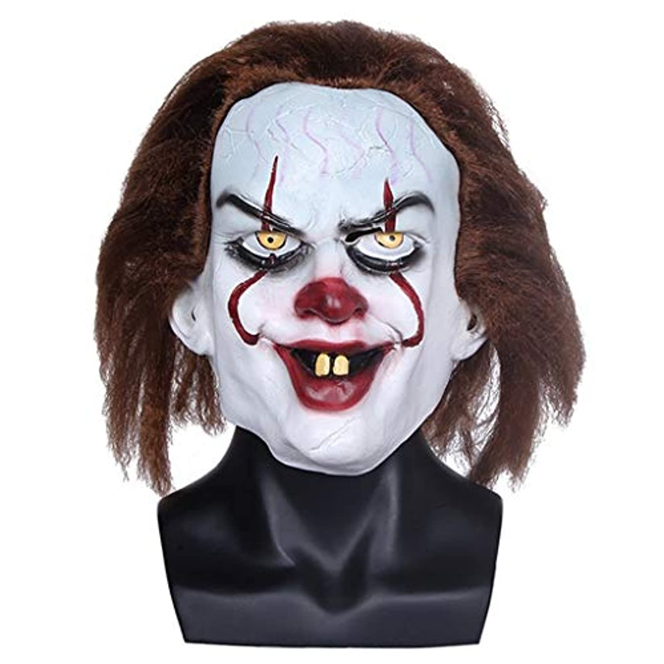 散文比喩適応するハロウィンマスク大人の男性用ラテックスヘッドギアホラーピエロマスク笑顔変な顔映画小道具仮面舞踏会マスク