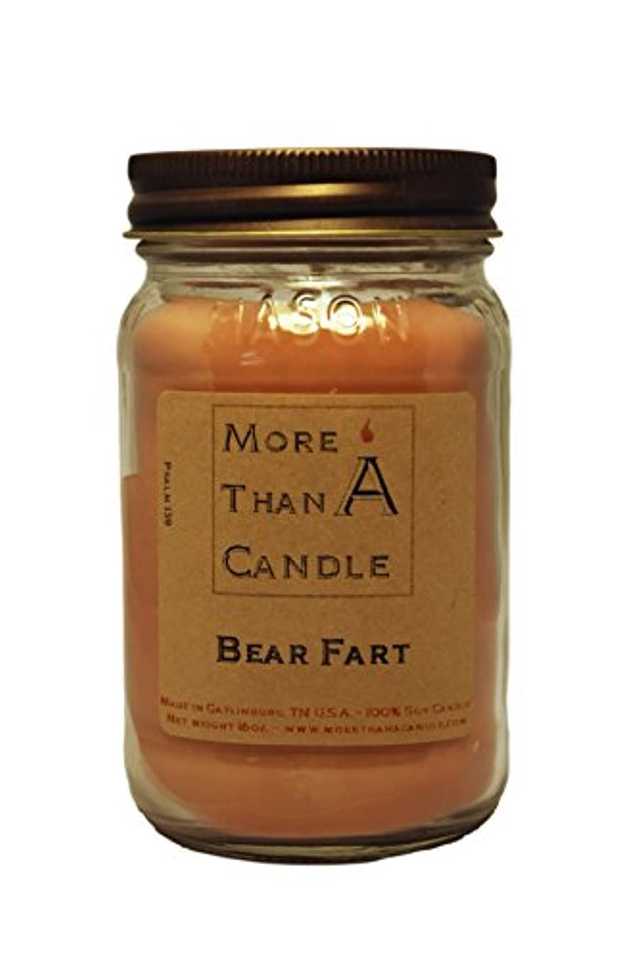 ラオス人豚どんなときもMore Than A Candle BRF16M 16 oz Mason Jar Soy Candle, Bear Farts