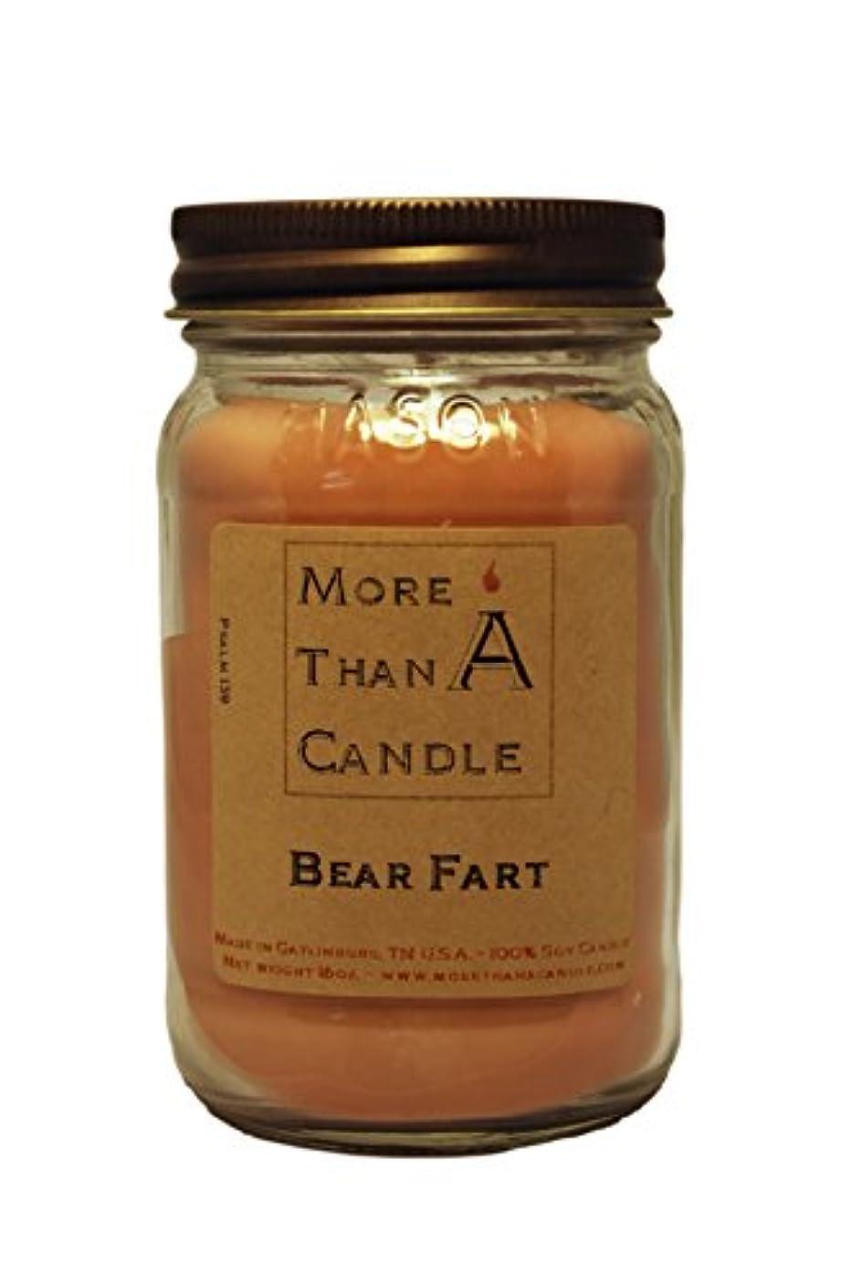 逆まさに時間More Than A Candle BRF16M 16 oz Mason Jar Soy Candle, Bear Farts