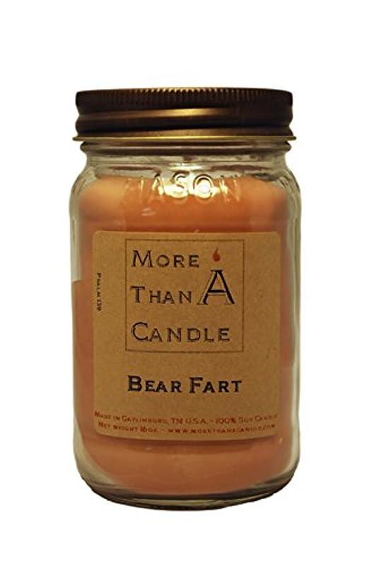 刈るかご鳴らすMore Than A Candle BRF16M 16 oz Mason Jar Soy Candle, Bear Farts