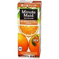 明治乳業 明治 Minute Maid(ミニッツメイド) オレンジ100%200ml紙パック×24本入
