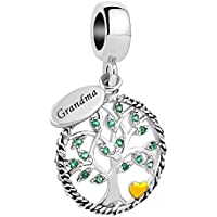 CandyCharms Family Tree of Life Beads Charm for Bracelet