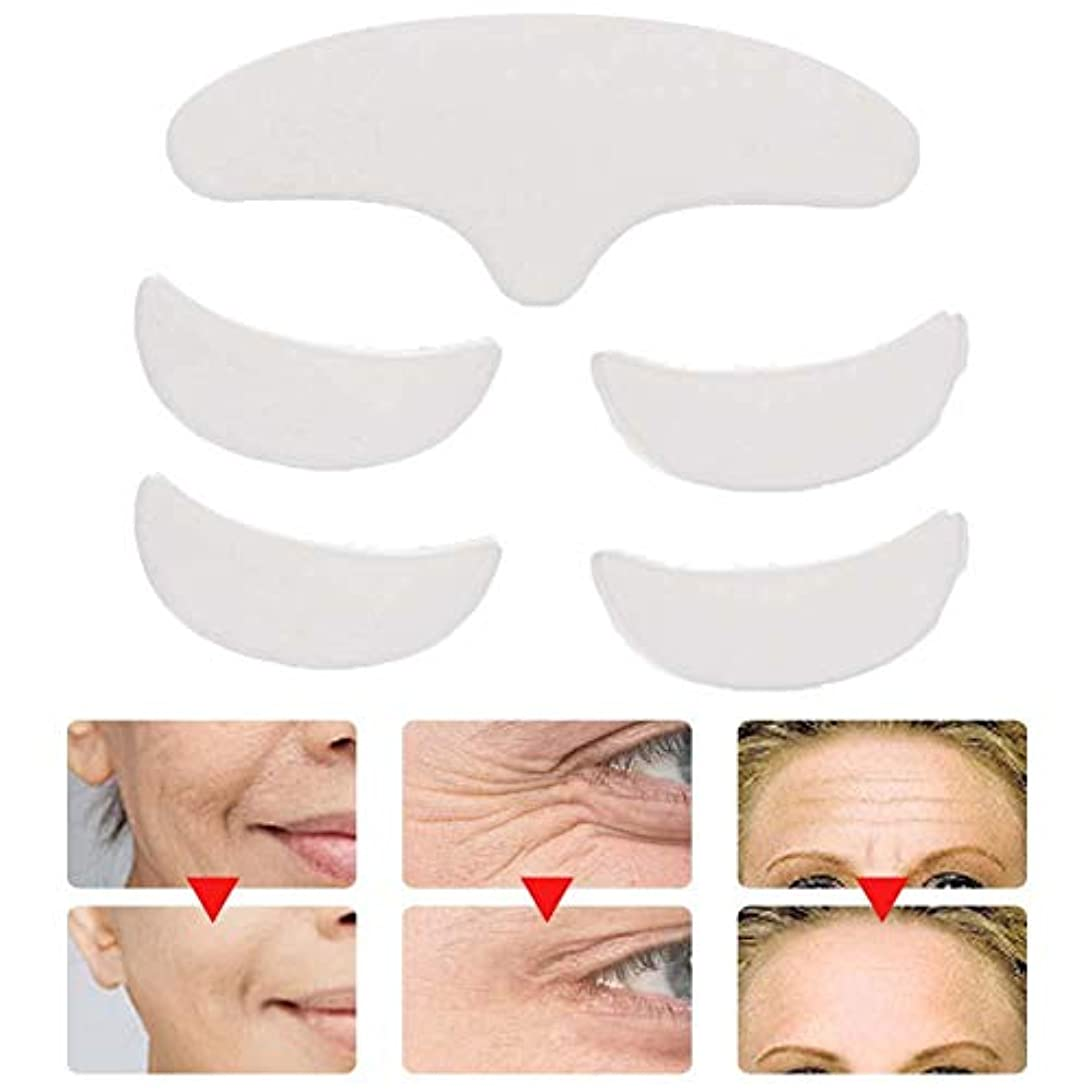 屋内で歌うきらめき5個再利用可能な洗える額の目の顔のパッチ、抗しわパッドスキンリフティングシリコーンパッチ