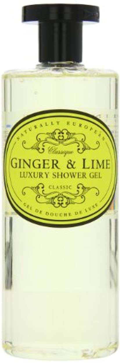 ほぼ倍増すすり泣きNaturally European Ginger and Lime Luxury Shower Gel 500ml