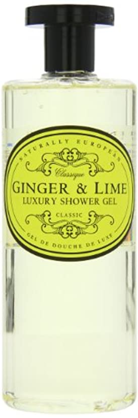 無駄なアーサー真っ逆さまNaturally European Ginger and Lime Luxury Shower Gel 500ml