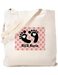 CafePress – NICU看護婦 – ナチュラルキャンバストートバッグ、布ショッピングバッグ S ベージュ 1001235258DECC2
