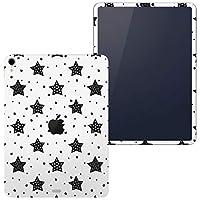 igsticker iPad Pro 12.9 inch インチ 専用 apple アップル アイパッド 2018 第3世代 A1876 A1895 A1983 A2014 全面スキンシール フル 背面 側面 正面 液晶 タブレットケース ステッカー タブレット 保護シール 人気 星 白 黒 010247