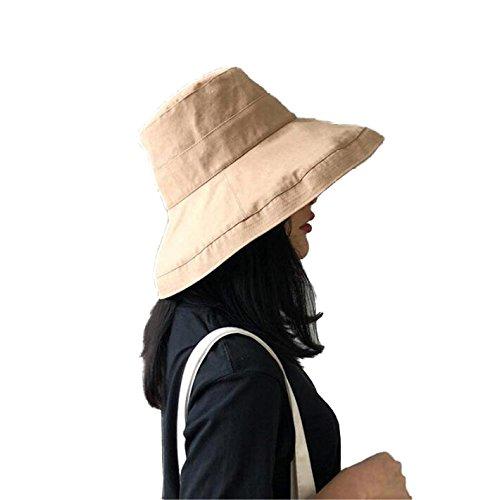 UVカット帽子 プレーンハット 通気性タイプ 接触冷感素材 レディース つば広 日よけ (ベージュ)