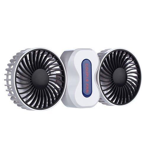 ノーブランド品 卓上扇風機 350°回転 角度調整 3段階風量切替可 USB充電可能 折り畳み式 ミニ 扇風機 静音 エコ 節電 (カップル・ホワイト)