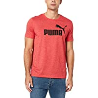 PUMA Men's ESS+ HEATHER TEE, High Risk