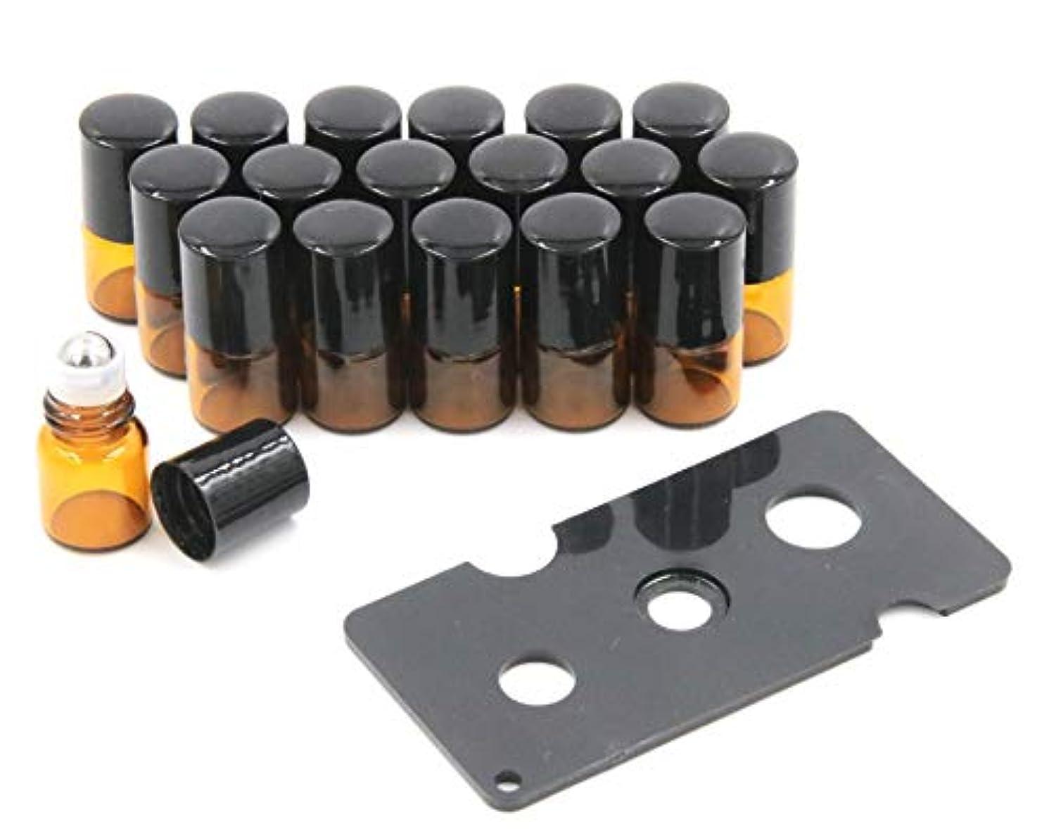 分散フルーツ憧れXPdesign アロマ ロールオン遮光瓶 アロマオイル 遮光瓶 保存 容器 小分け 詰め替え 香水 ボトル (1ml 18本セット)