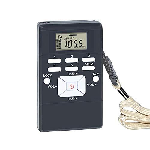 ポータブルラジオ 小型FM高感度 クロックラジオDSPステ...