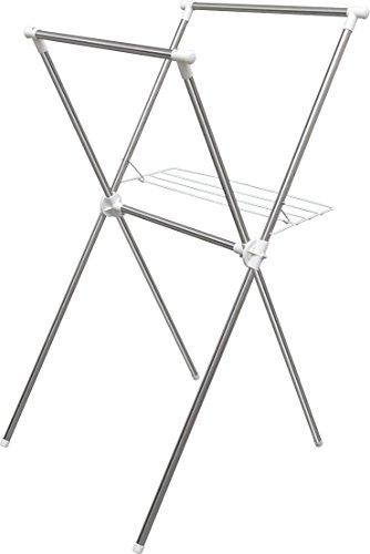 アイリスオーヤマ 物干し 簡単組み立て室内物干し ステンレス 幅700×奥行780×高さ1300mm H-70X