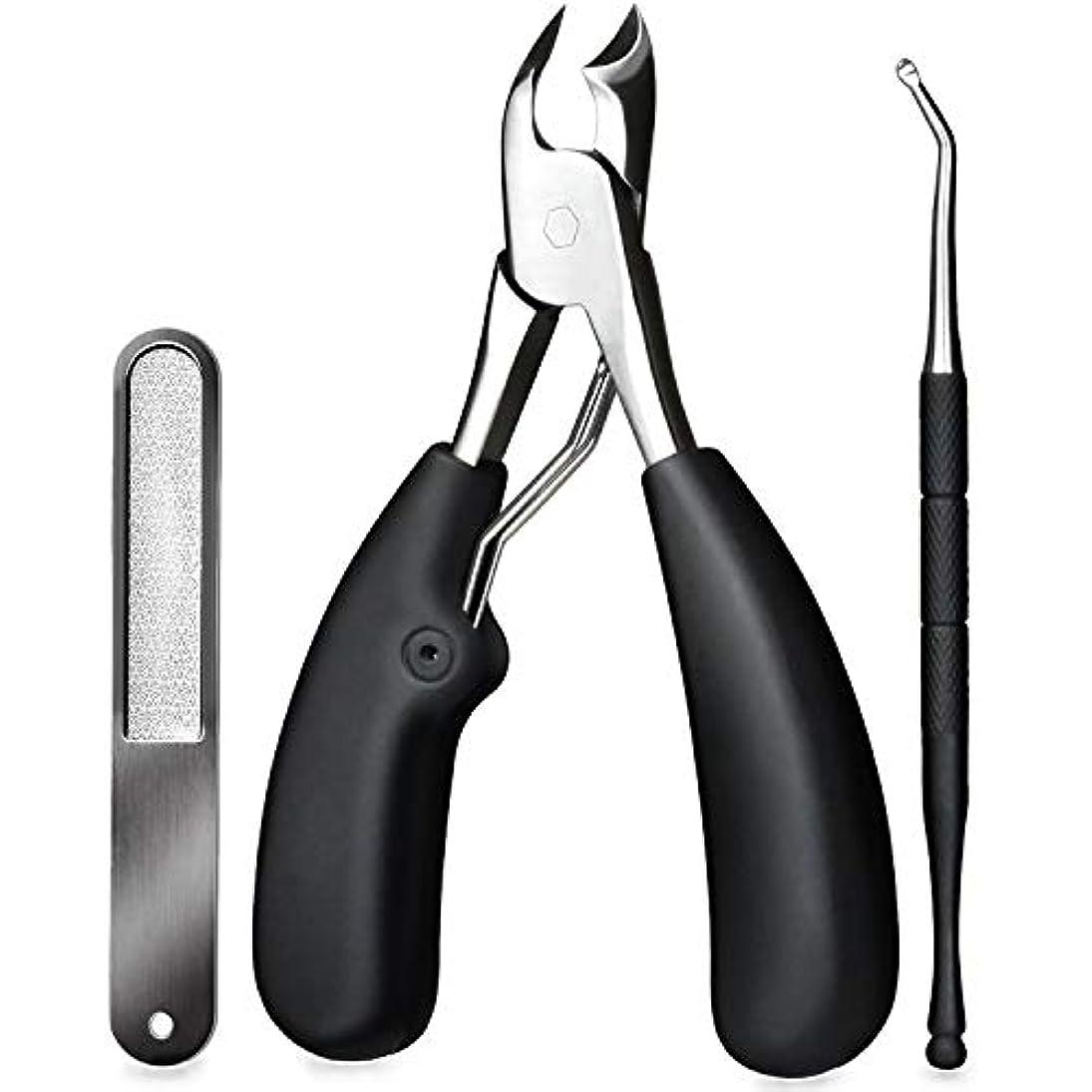 スリーブシネマ透過性爪切りー 巻き爪 硬い爪などにも対応、ゾンデと爪やすり付き