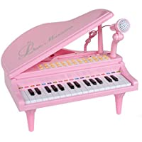 31 Keys Little Pink Piano for Girls with Microphone Electronic Organ Music Keyboard for Kids [並行輸入品]