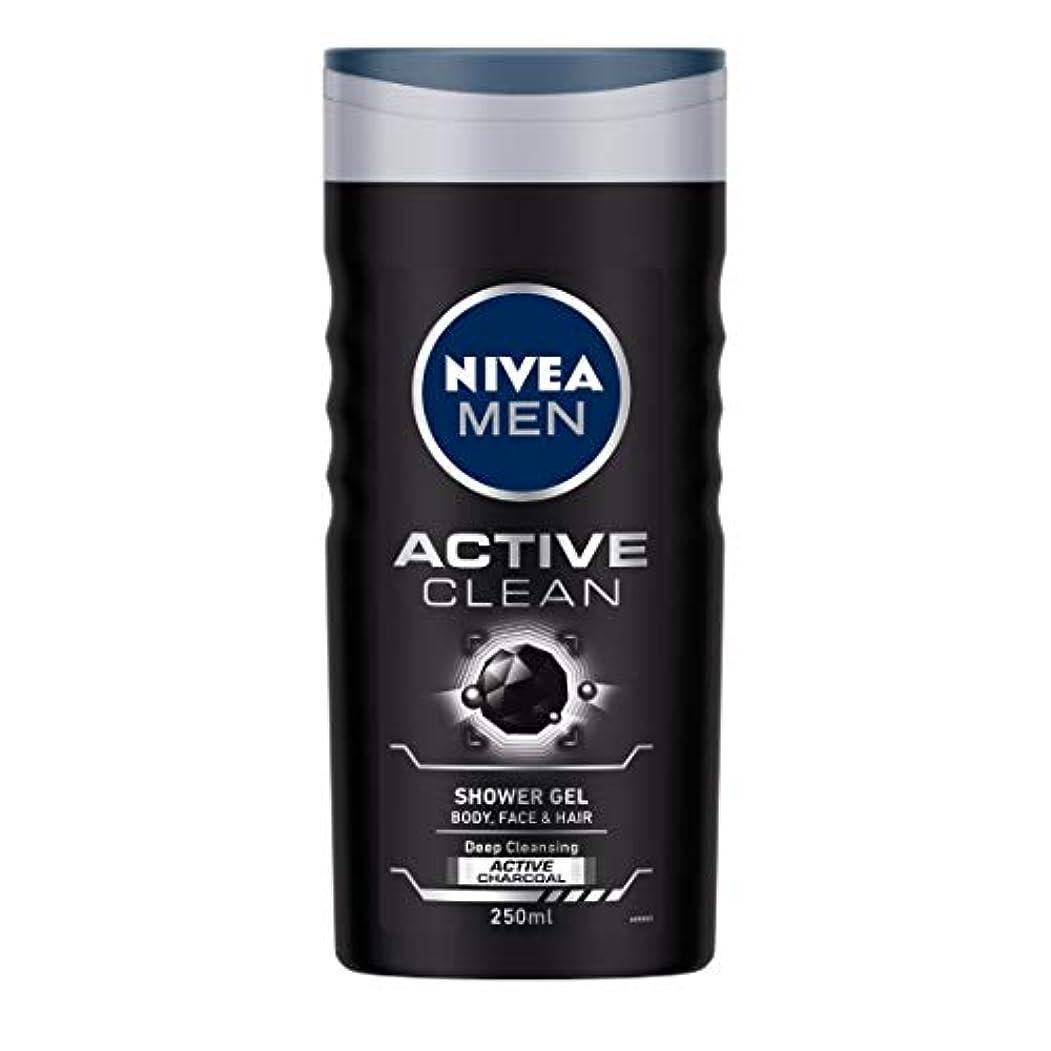 あいさつヘッドレスバーストNivea Men Active Clean Shower Gel, 250ml