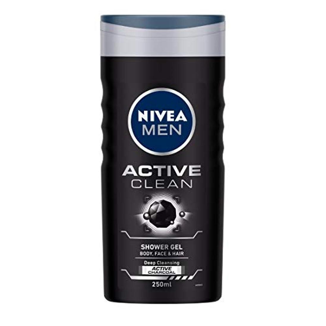 サンプル血統墓Nivea Men Active Clean Shower Gel, 250ml