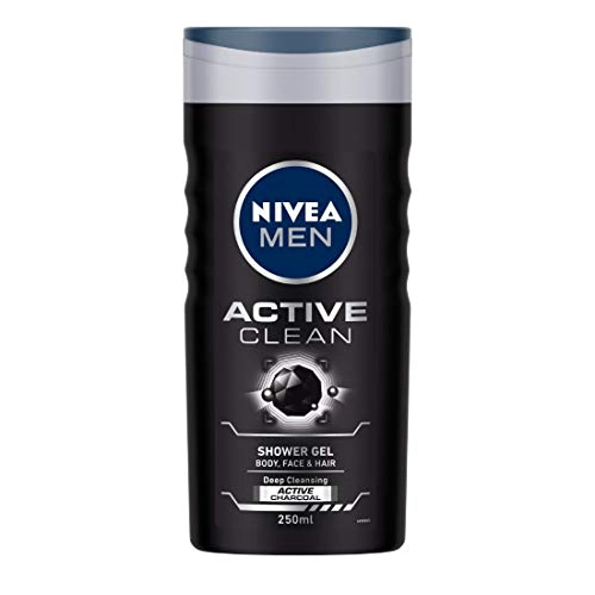 より多い進捗スーツNivea Men Active Clean Shower Gel, 250ml