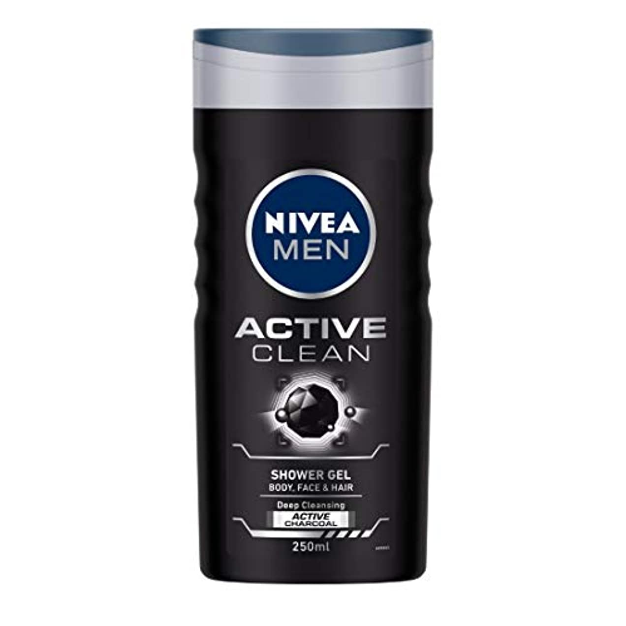 モチーフ風刺胚芽Nivea Men Active Clean Shower Gel, 250ml