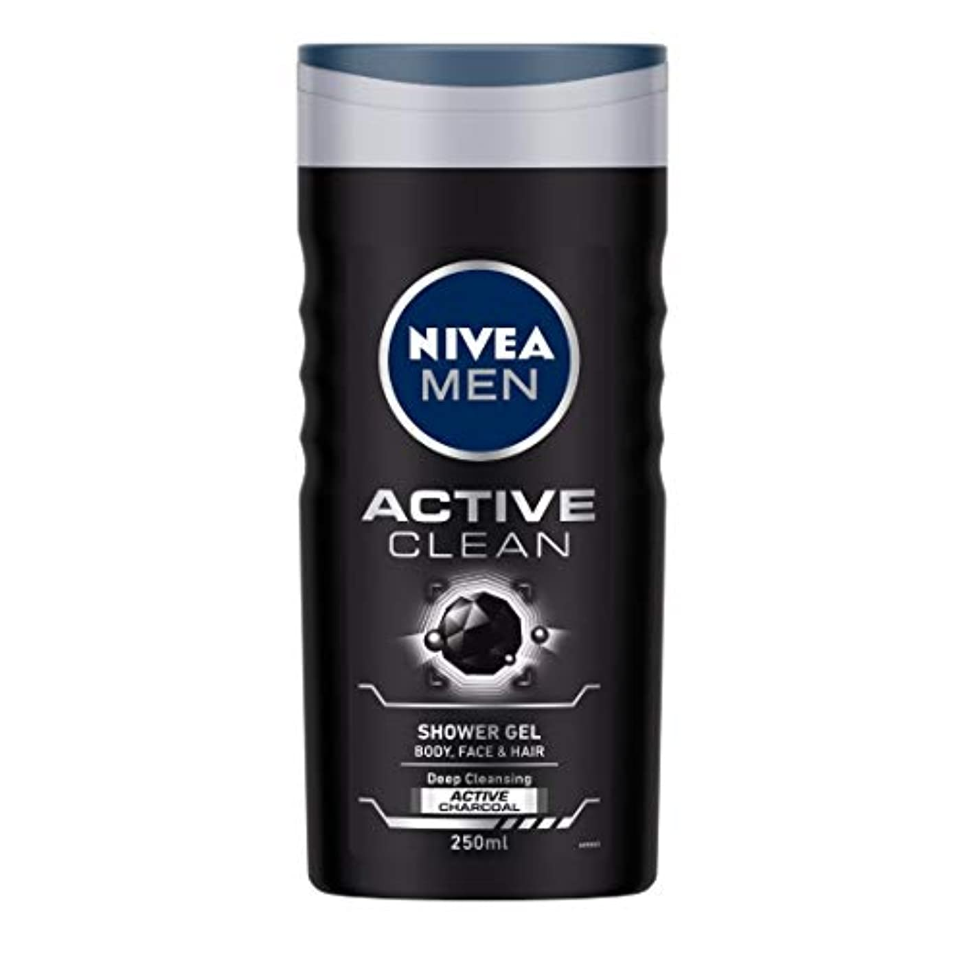 渦汚い認識Nivea Men Active Clean Shower Gel, 250ml