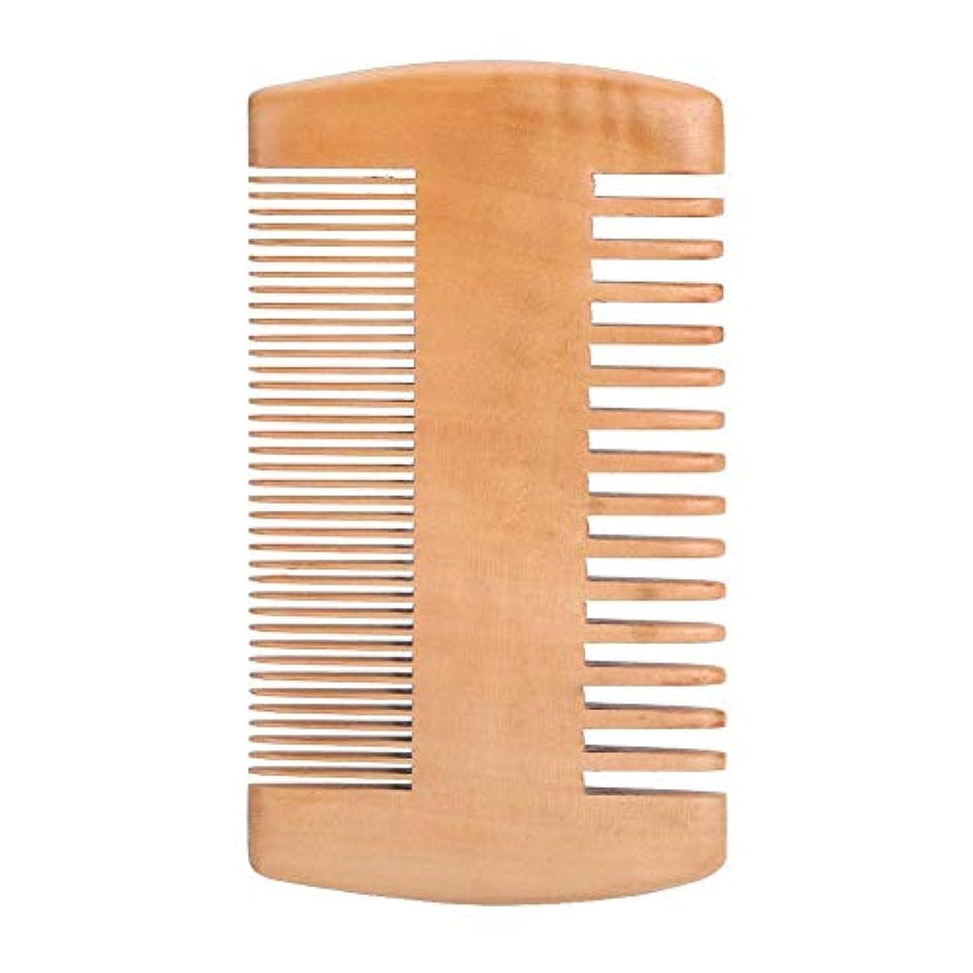 リットルつまずく中木製の抗静的ひげポケット櫛