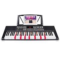 キーボード ピンクスマートピアノキーボード子供初心者楽器を始める (色 : Black)