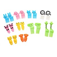 buorsaキュート動物Food Picks and Forks for Kids 20個