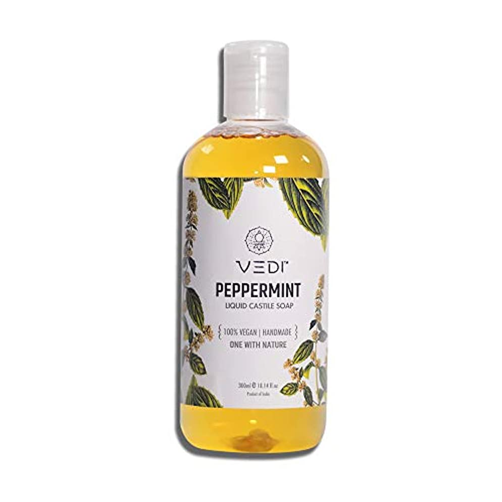 ポルティコ脱臼する力PEPPERMINT LIQUID CASTILE SOAP (300ml)