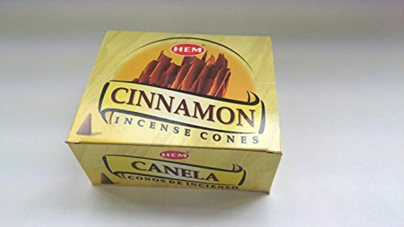 展望台仕えるかび臭いHEM(ヘム)お香 シナモン コーンタイプ 1ケース(10粒入り1箱×12箱)