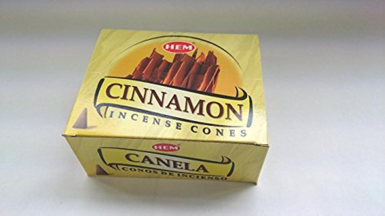 素晴らしいです印象的なながらHEM(ヘム)お香 シナモン コーンタイプ 1ケース(10粒入り1箱×12箱)