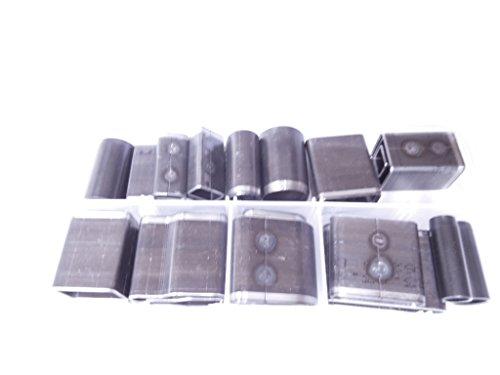 レザークラフト 工具 抜き型 型抜き パンチ 穴 あけスマホ パッド タブレット カバー ハンドメイド 収納 ケース 付き (24個セット)