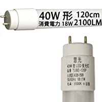 LED蛍光灯 40W形 グロー式器具工事不要蛍光灯led 120cm 昼白色 慧光 TUBE-120P