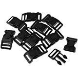 Dolity 10 Pieces Plastic Quick Release Buckles Clips Side Release for Backpack Luggage Travel Bag Attachment Accessories