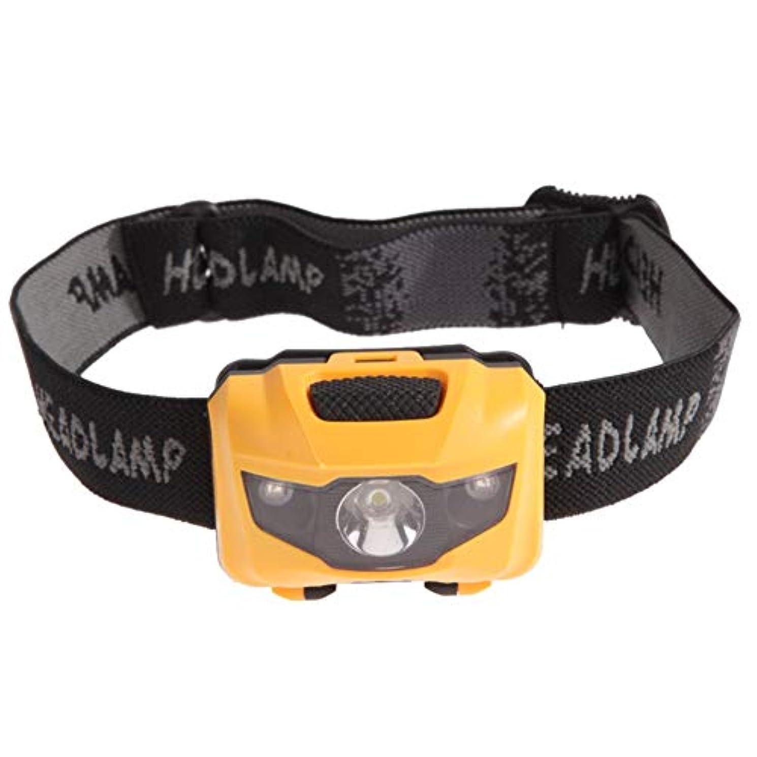 平方ファックス委員長3Wヘッドライトレッドライトホワイトアウトドアキャンプライトフィッシングヘッドライト (色 : 黄)