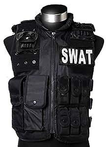 釣り サバゲー にも使える!? 『 SWAT (スワット) ベスト 』 多機能 サイズ調節可能 SY-1194