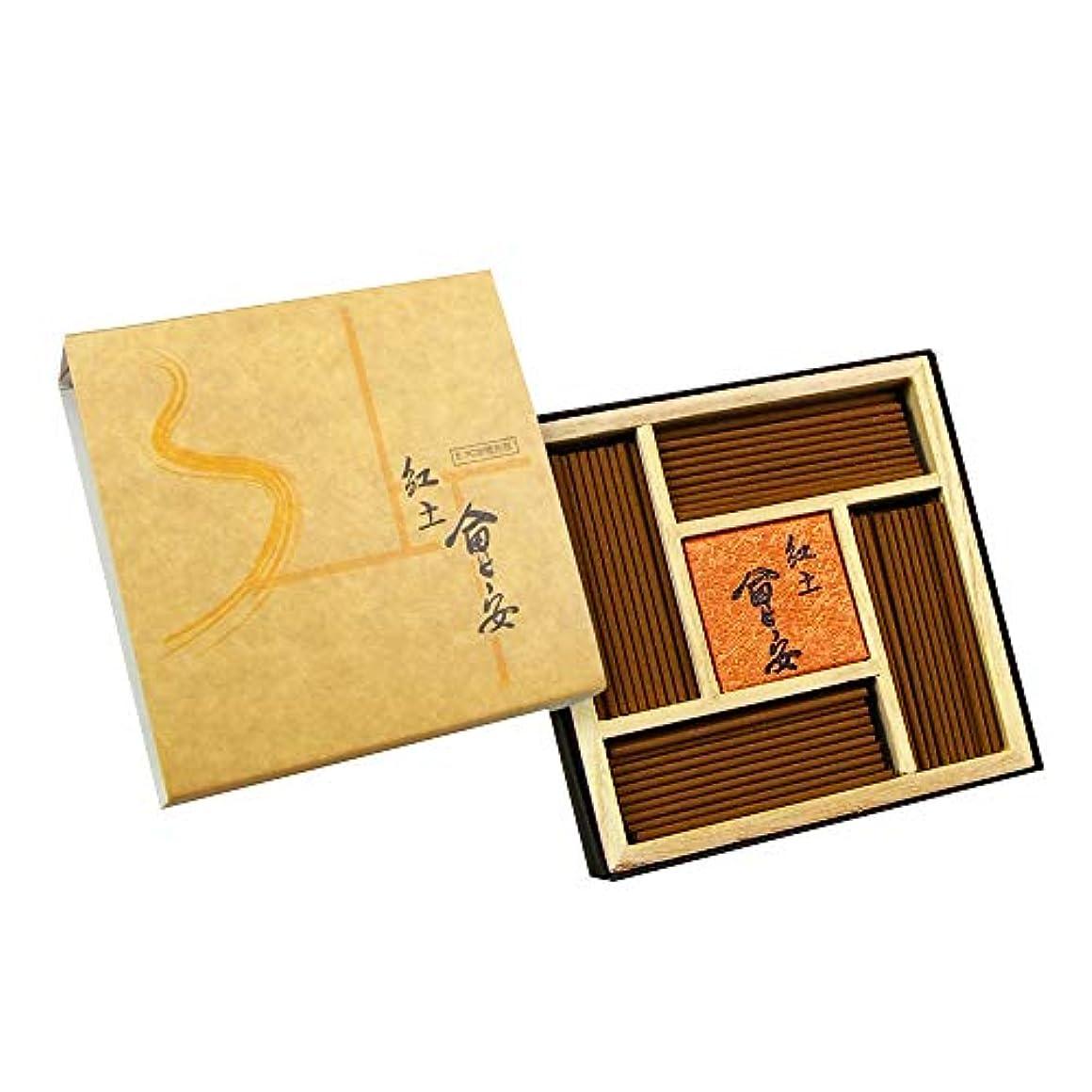 量贅沢靴下Fushankodo お香スティック Hui-an Red Clay Agarwood アロエウッド アギラウッド 北欧のベトナム素材 100%天然 化学添加なし 57mm